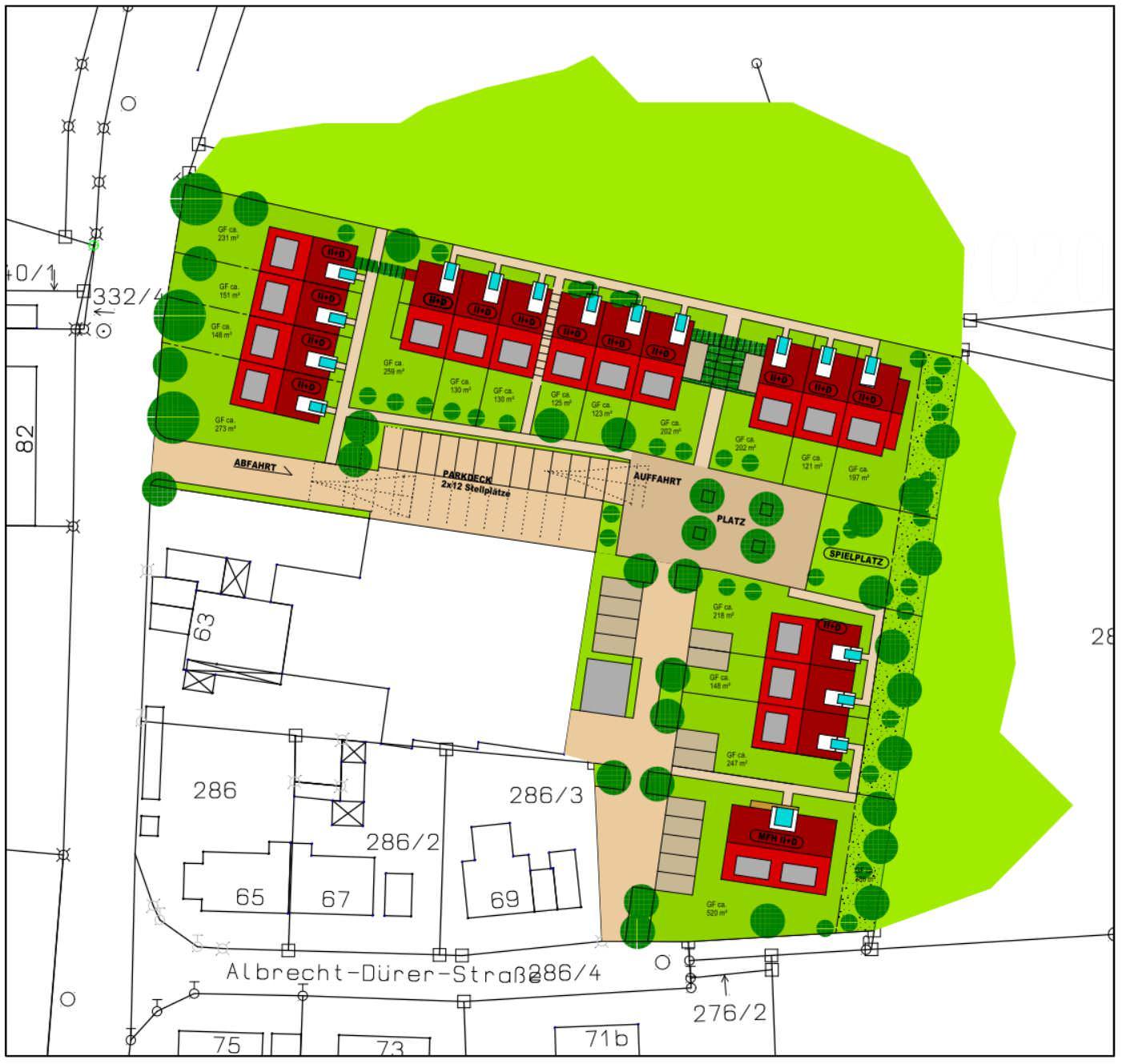 Projektentwicklung - Lageplankonzept